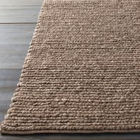 Hand-woven Iguala Solid Casual Brown Wool Area Rug - 3'3 x 5'3