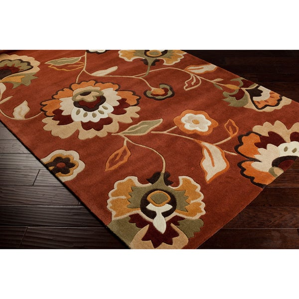 Hand-tufted Anthisnes Paprika Rug (5' x 8')