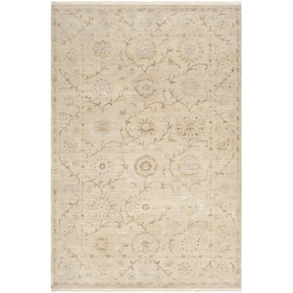 Hand-knotted Guelmim Beige Wool Area Rug - 5'6 x 8'6