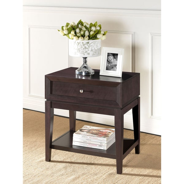 Morgan Brown Modern Nightstand - Free Shipping Today - Overstock ...