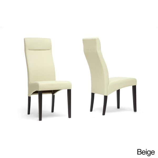 Deborah Beige Linen Modern Dining Chairs (Set of 2)