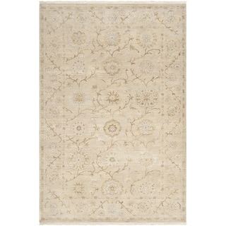 Hand-knotted Guelmim Beige New Zealand Wool Rug (9' x 13')
