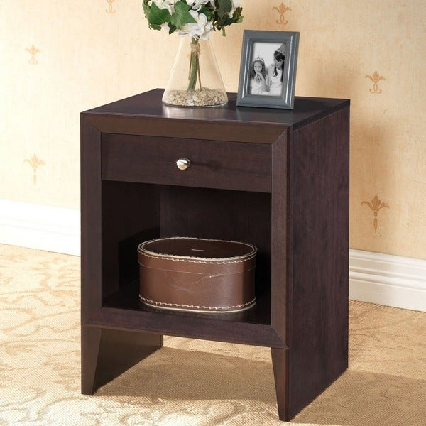 Leelanau Brown Modern Nightstand