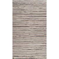 Hand-woven Tepic Brown Wool Plush Textured Area Rug - 2' x 3'