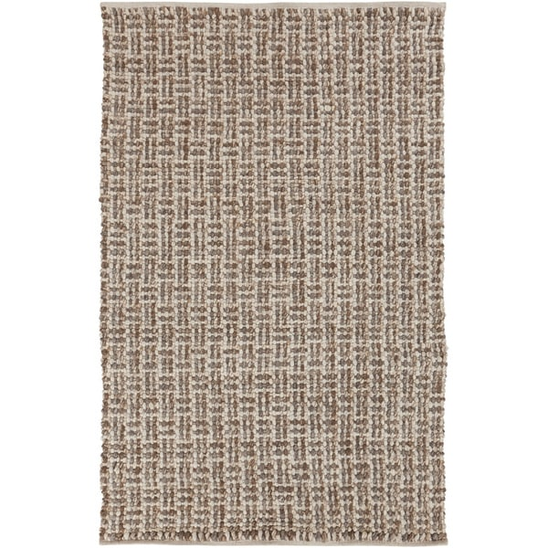 Hand-woven Solid Casual Beige Tampico Wool Area Rug - 8' X 11'