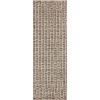 Hand-woven Solid Casual Beige Tampico Wool Area Rug - 2'6 x 8'