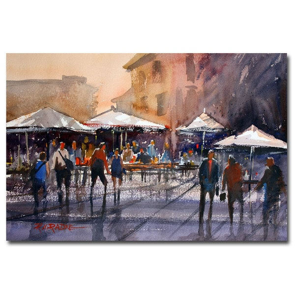 Ryan Radke 'Outdoor market - Rome' Canvas Art - Multi