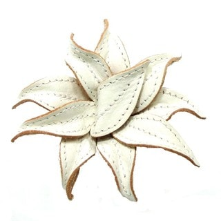 Mystique White Lily 2 in 1 Floral Leather Pin or Hairclip (Thailand)