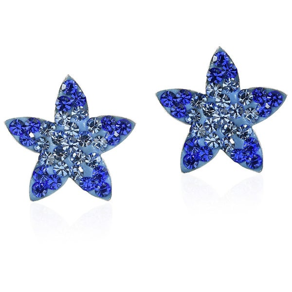 Handmade Cute Sparkly Star Cubic Zirconia Silver Stud Earrings (Thailand)