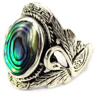 Handmade Beautiful Couple Swan Oval .925 Sterling Silver Ring (Thailand)