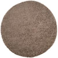 Hand-woven Temara Dark Grey Round Soft Shag Area Rug - 10' x 10'