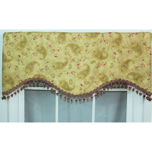 RLF Home Prelude Paisley Tea Stain Cornice Valance
