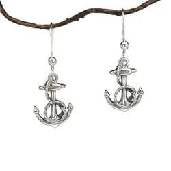 Jewelry by Dawn Sterling Silver Fancy Anchor Earrings
