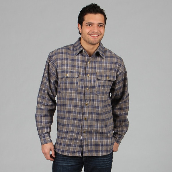 Farmall IH Men's 'Brawny' Grey Flannel Shirt
