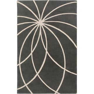 Hand-tufted Beaumont Iron Ore Floral Wool Rug (10' x 14')