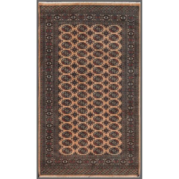 Handmade Herat Oriental Pakistani Bokhara Wool Rug - 5' x 8'4 (Pakistan)
