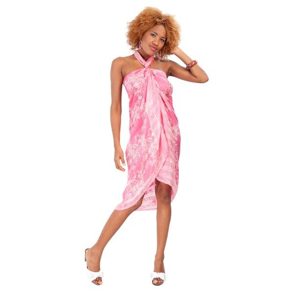 Pink Assorted Silk Sarong (Indonesia)