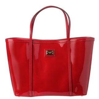 Dolce & Gabbana 'Miss Escape' Red Patent Leather Tote Bag