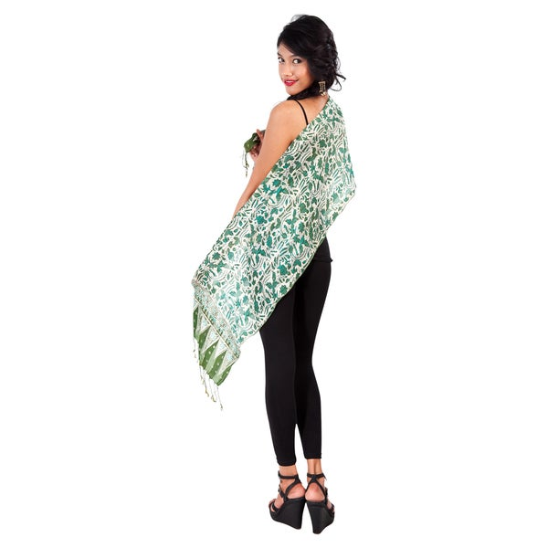 Green Assorted Silk Scarf (Indonesia)