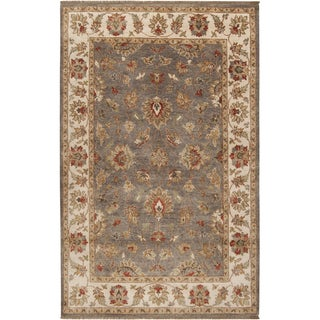 Hand-knotted Tok Brown Wool Rug (2' x 3')