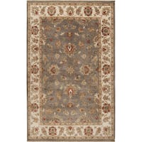 Hand-knotted Tok Brown Wool Area Rug - 2' X 3'