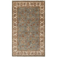Hand-knotted Deltana Blue Wool Area Rug (5' x 8')