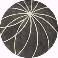 Hand-tufted Beaumont Iron Ore Floral Wool Area Rug - 9'9
