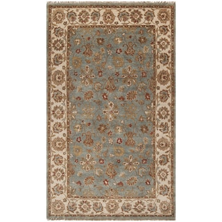 Hand-knotted Deltana Blue Wool Rug (2' x 3')
