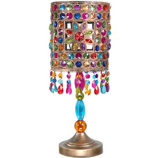 Multicolor Jewel Flower Table Lamp (China)