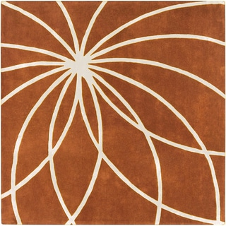 Hand-tufted Beauraing Carmine Floral Wool Rug (9'9 x 9'9)