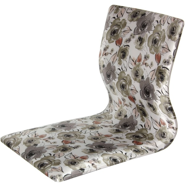 Tatami White Floral Meditation Backrest Chair (China)