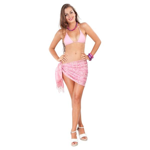 Pink Assorted Silk Half-Sarong (Indonesia)
