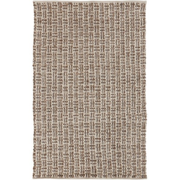 Hand-woven Solid Casual Beige Juneau Wool Area Rug (5' x 8')