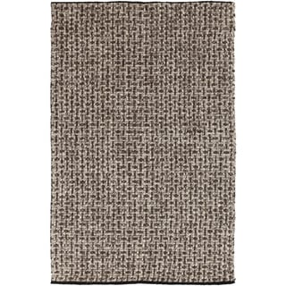 Hand-woven Solid Casual Dark Brown Fairbanks Wool Rug (5' x 8')
