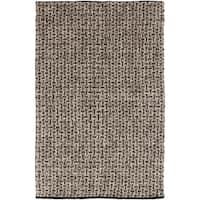 Hand-woven Solid Casual Dark Brown Fairbanks Wool Area Rug - 5' x 8'