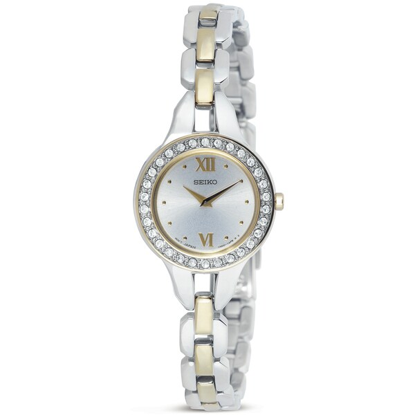 Seiko Women's Goldtone Stainless Steel Crystal Watch