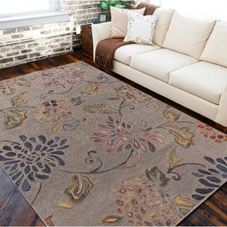 Hand-tufted Haines Grey Wool Rug (9' x 13')