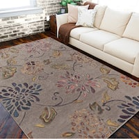 Hand-tufted Haines Grey Wool Area Rug - 9' x 13'