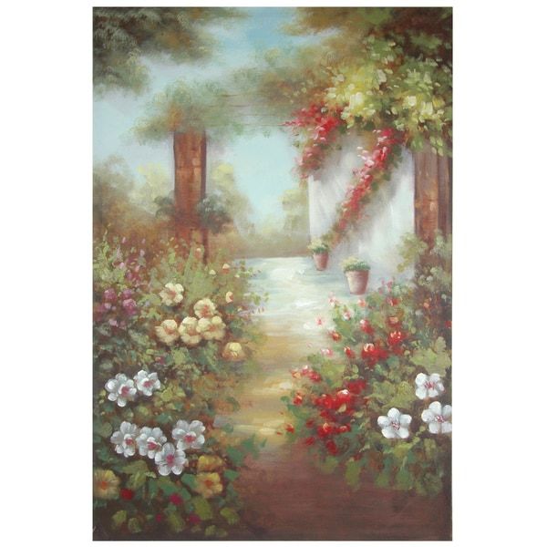 Hand Painted Path through the Flowers Canvas (China)