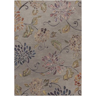 Hand-tufted Haines Grey Wool Area Rug - 5 x 8 (5 x 8 - Grey)