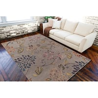 Hand-tufted 'Haines' Grey Wool Area Rug - 5' x 8'