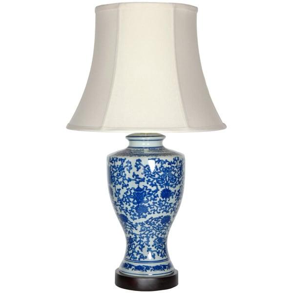 Victorian Design Porcelain Lamp (China)