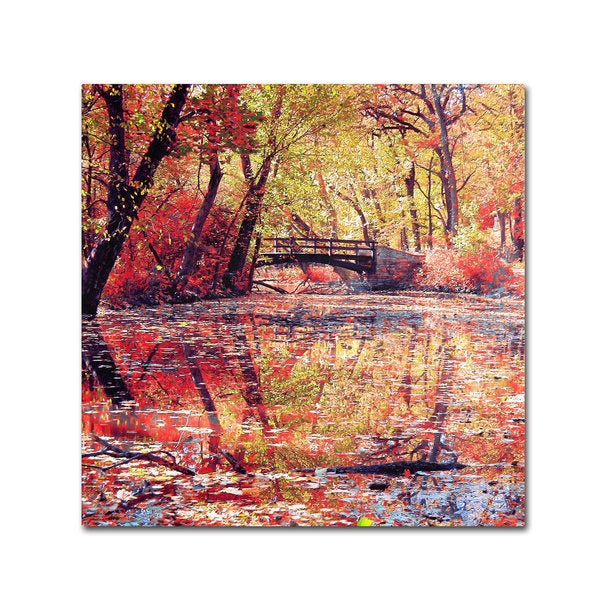 Beata Czyzowska 'Monets Garden' Canvas Art Print