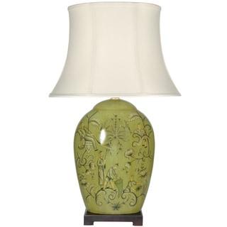 Harvest Season Porcelain Lamp (China)