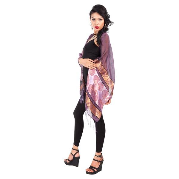 Elegant Purple Silky Assorted Scarf (Indonesia)