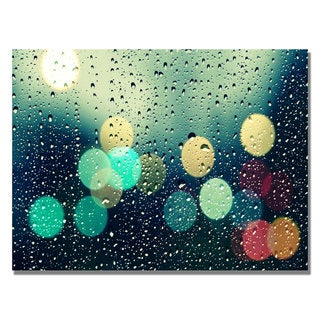 Beata Czyzowska 'Rainy City' Canvas Art
