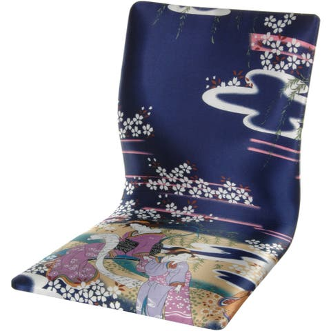 Handmade Indigo Geisha Tatami Meditation Backrest Chair