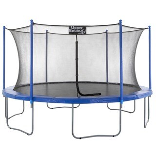Upper Bounce Steel 16-foot Trampoline with Mesh Enclosure