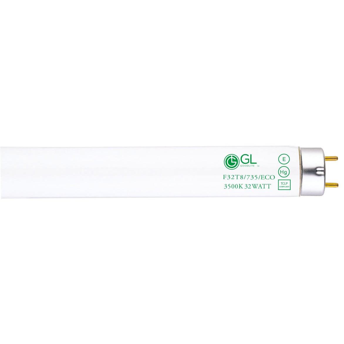 32W 48In Qty 12 T8 Fluorescent Lamp Pack of 12 Min L 6500K