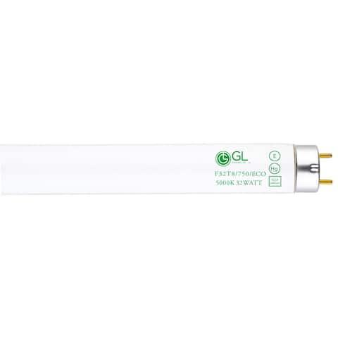 Goodlite F32T8/750/ECO 32W 48-inch T8 Fluorescent Tube Lights Super White 5000k (Pack of 30)